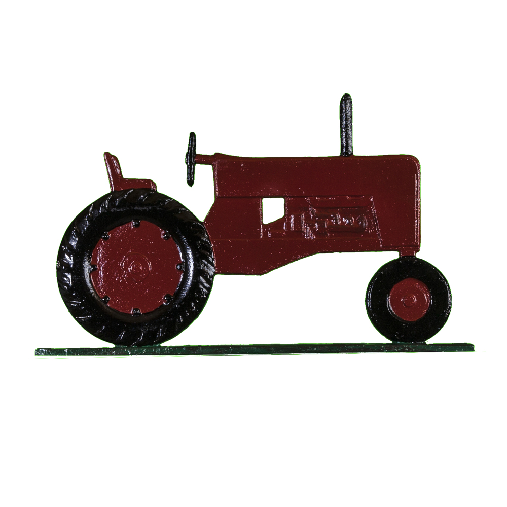 Farm Tractor Post Sign - 1 Line