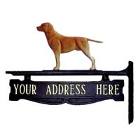 Labrador Retriever Post Sign - 1 Line