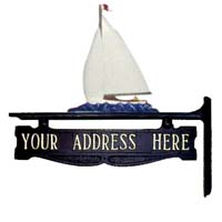 Sailboat Post Sign - 1 Line