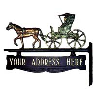 Horse Drawn Carriage Post Sign - 1 Line
