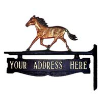 Horse Post Sign - 1 Line