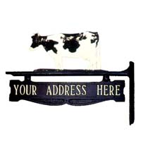 Cow Post Sign - 1 Line