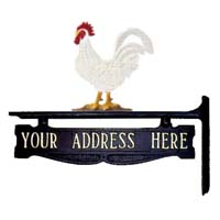 Rooster Post Sign - 1 Line