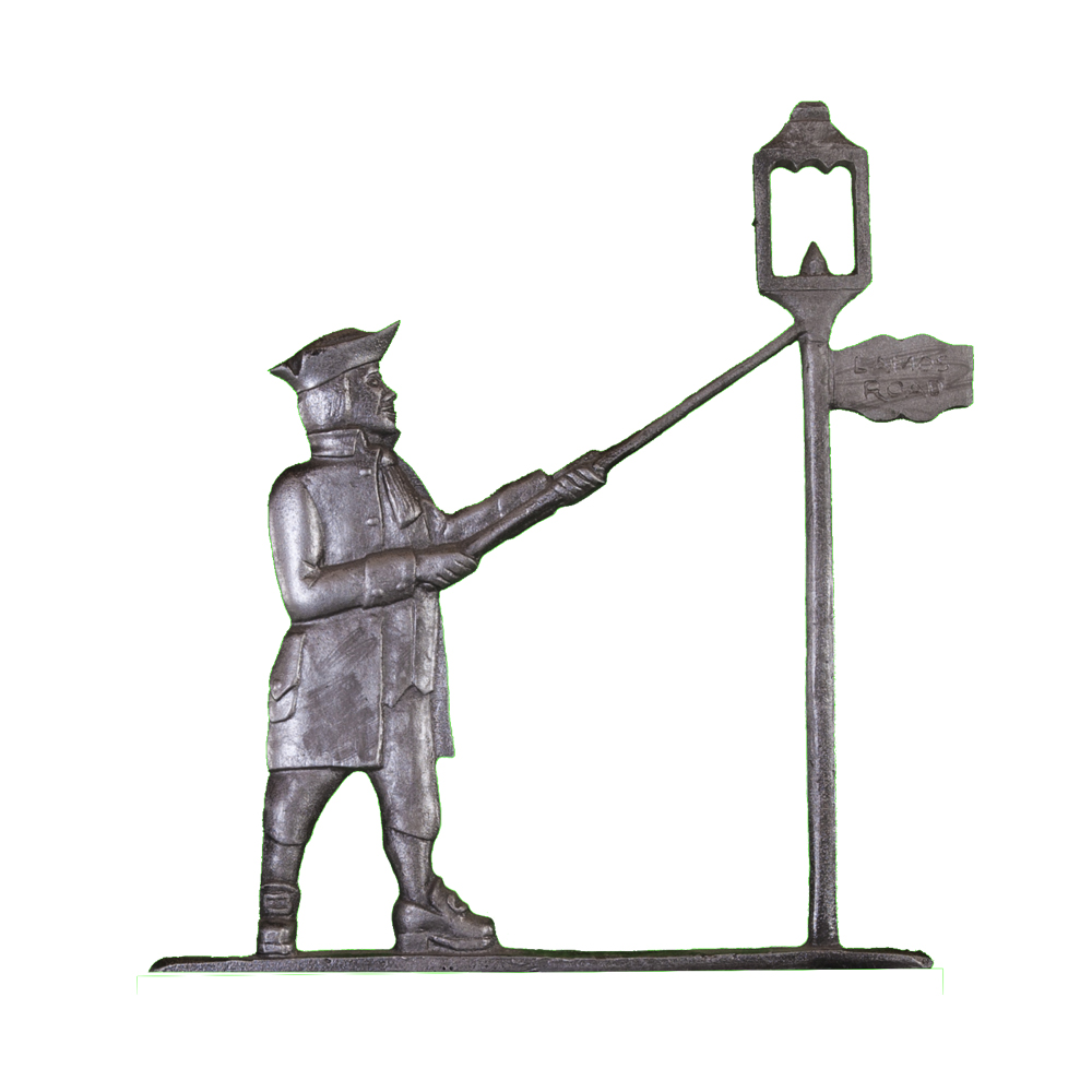 Colonial Lamplighter Post Sign - 1 Line