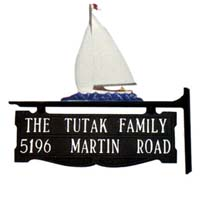 Sailboat Post Sign - 2 Line