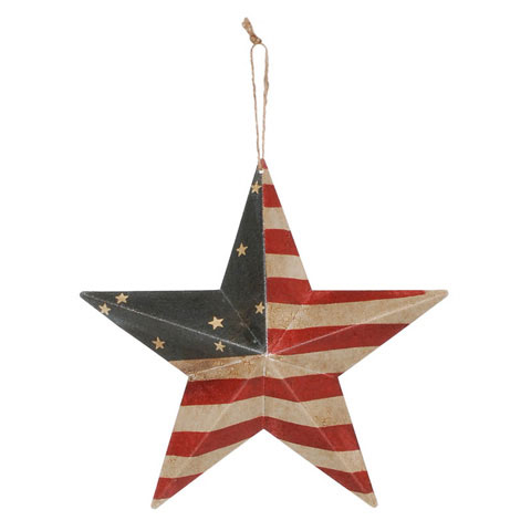 Americana USA Flag Barn Star - 12in