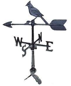 Cast Aluminum Cardinal 24in Weathervane