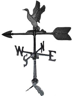 "Cast Aluminum Duck 24"" Weathervane"