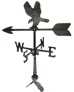 "Cast Aluminum Eagle 24"" Weathervane"
