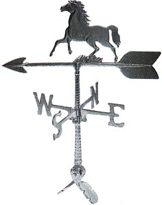 Cast Aluminum Horse 24in Weathervane