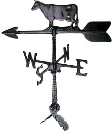 "Cast Aluminum Cow 24"" Weathervane"