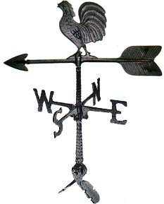 Cast Aluminum Rooster 24in Weathervane