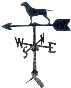 "Cast Aluminum Labrador Retriever 24"" Weathervane"