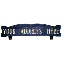 Standard Mailbox Top Address Sign - 1 Line