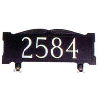Large Mailbox Top Address Sign - Numbers Only
