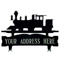 Locomotive Mailbox Top Address Sign