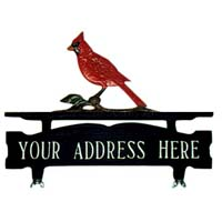 Cardinal Mailbox Top Address Sign