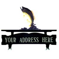 Bass Mailbox Top Address Sign