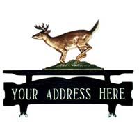 Buck Mailbox Top Address Sign