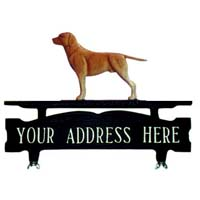 Labrador Retriever Mailbox Top Address Sign
