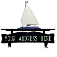 Sailboat Mailbox Top Address Sign