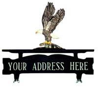 Eagle Mailbox Top Address Sign