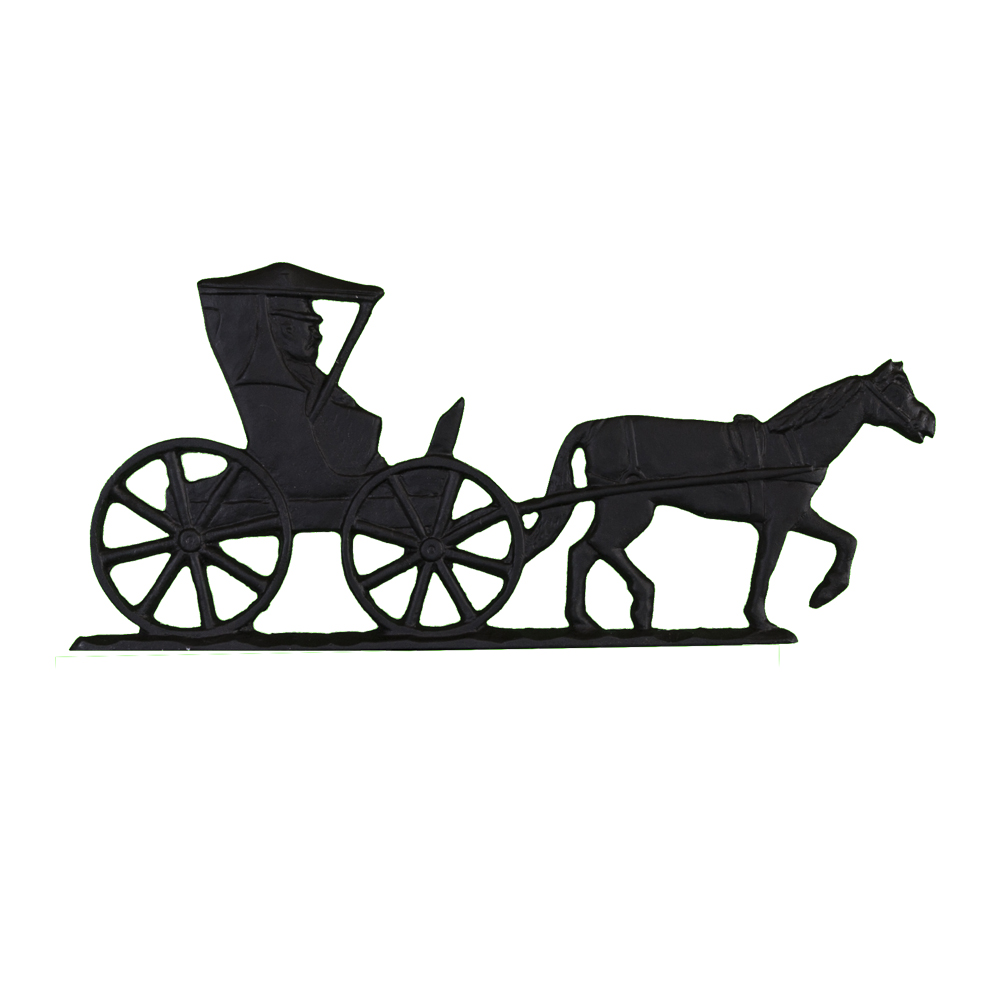 Horse Drawn Carriage Mailbox Top Address Sign