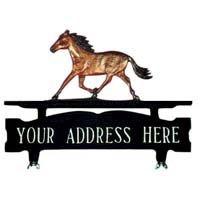 Horse Mailbox Top Address Sign
