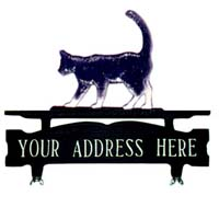 Cat Mailbox Top Address Sign