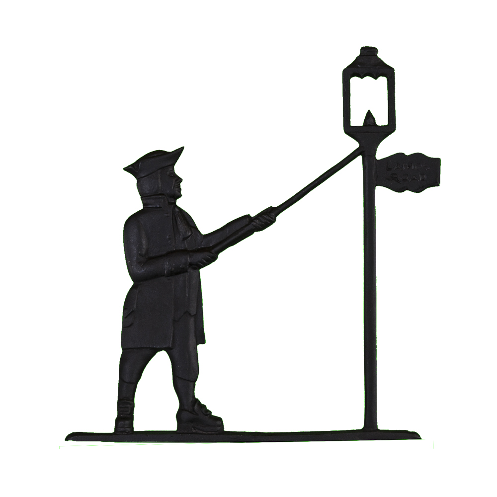 Colonial Lamplighter Mailbox Top Address Sign