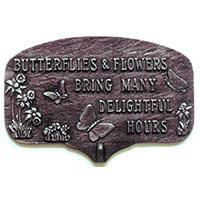 Butterflies and Flowers Garden Plaque