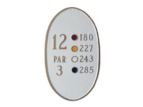Oval Golf Course Sign