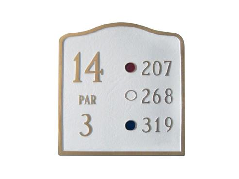 Arched Golf Course Sign