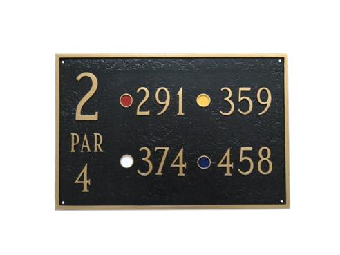 Rectangular Golf Course Sign