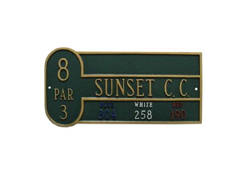 Basic Golf Course Sign w/ Course Name