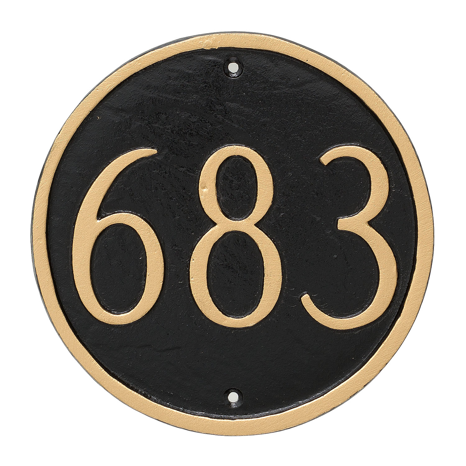 Circle Address Plaque - Petite