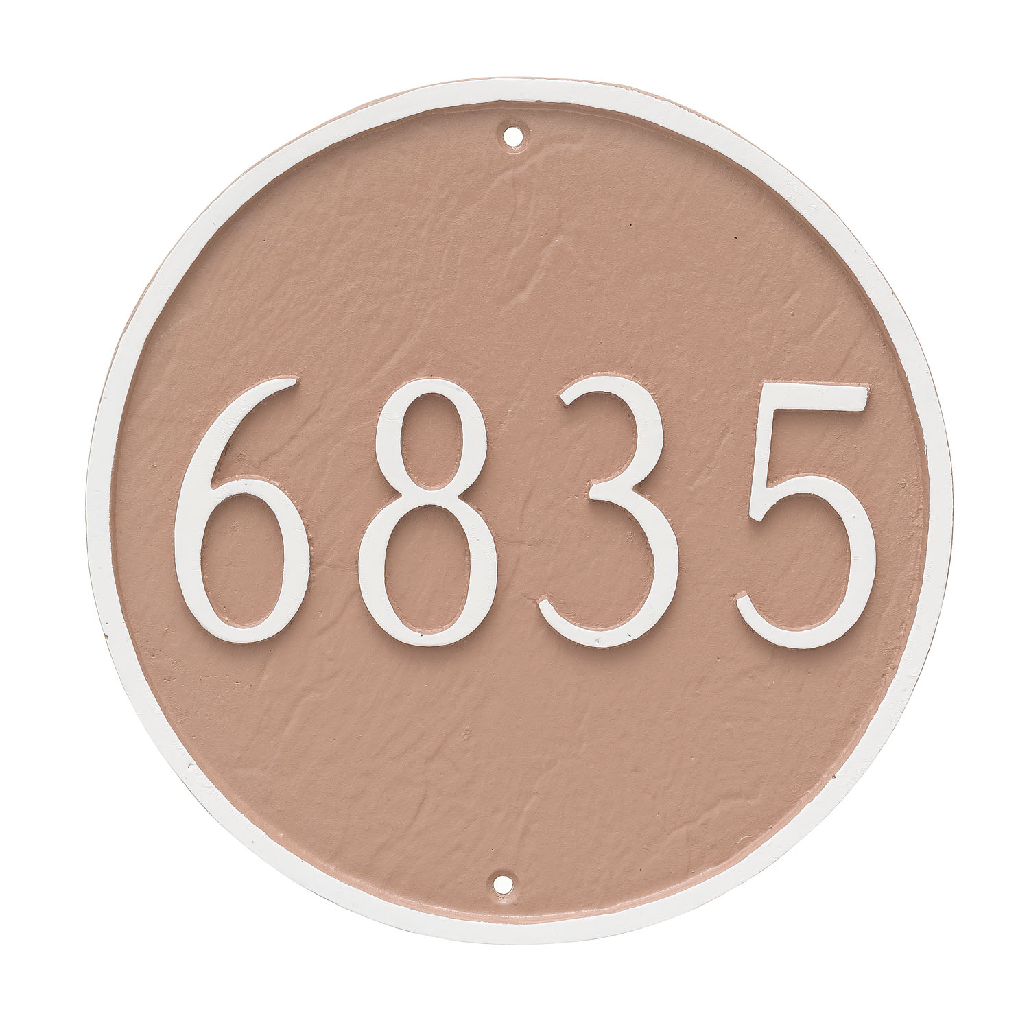 Circle Address Plaque - Standard