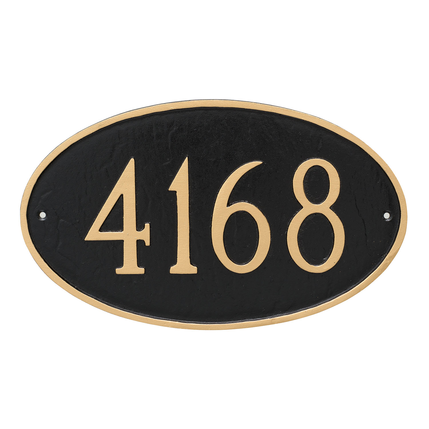 Oval Address Plaque - Large