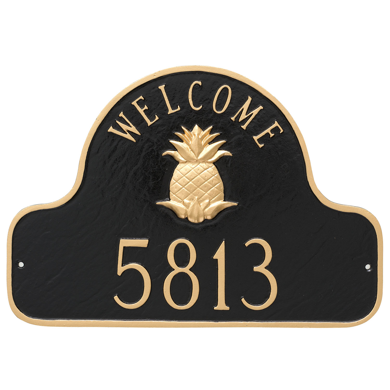 Pineapple Welcome Address Plaque