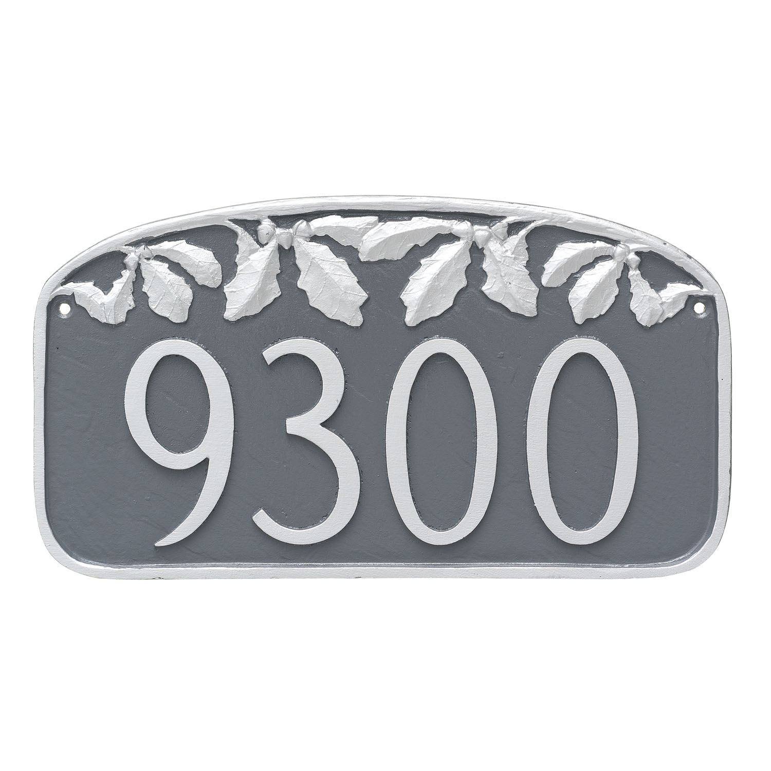 Oak Leaf Garland Address Plaque