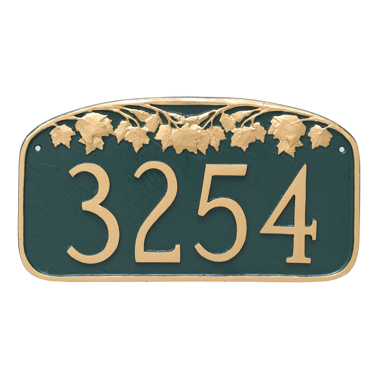 Maple Leaf Garland Address Plaque