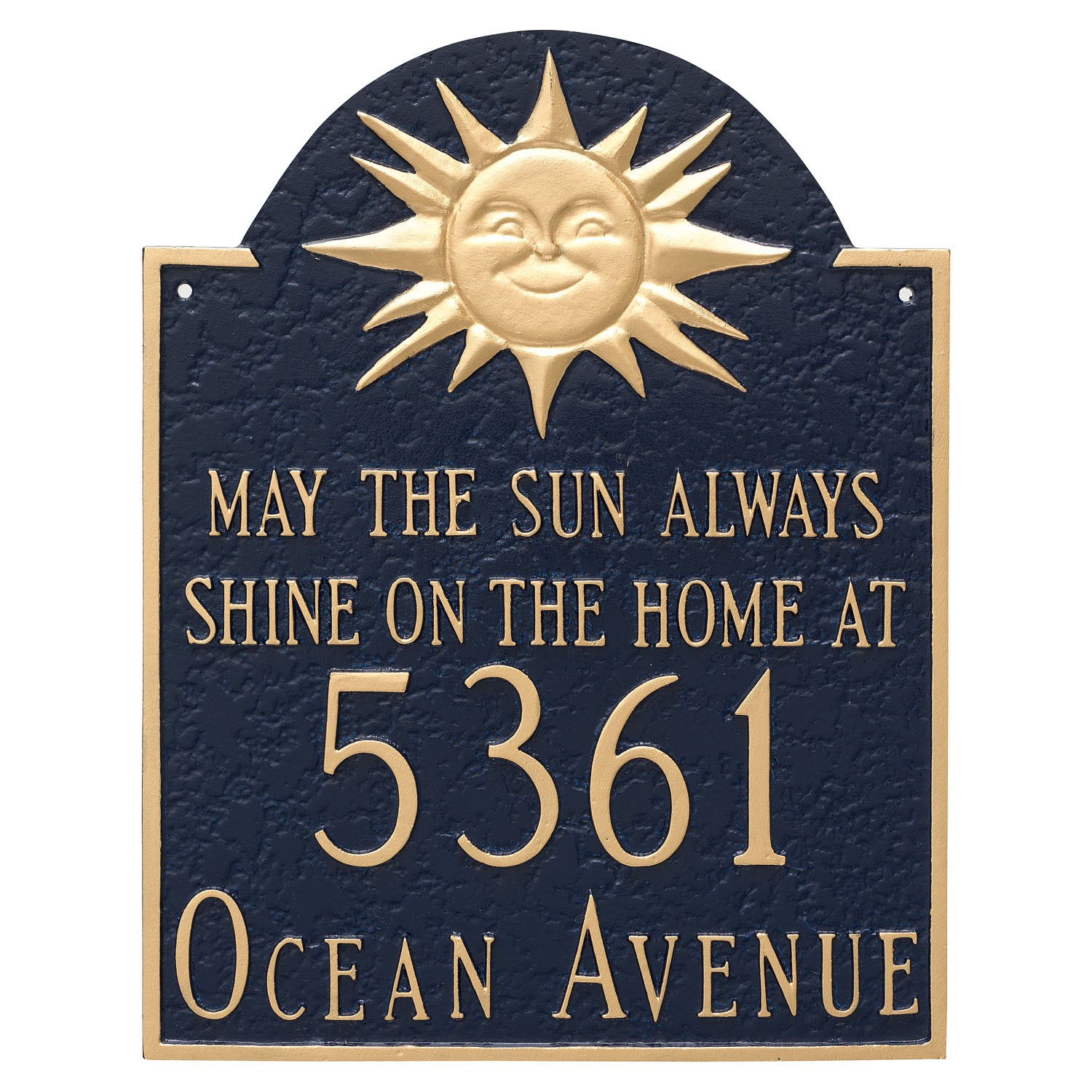 May the Sun Always Shine Address Plaque