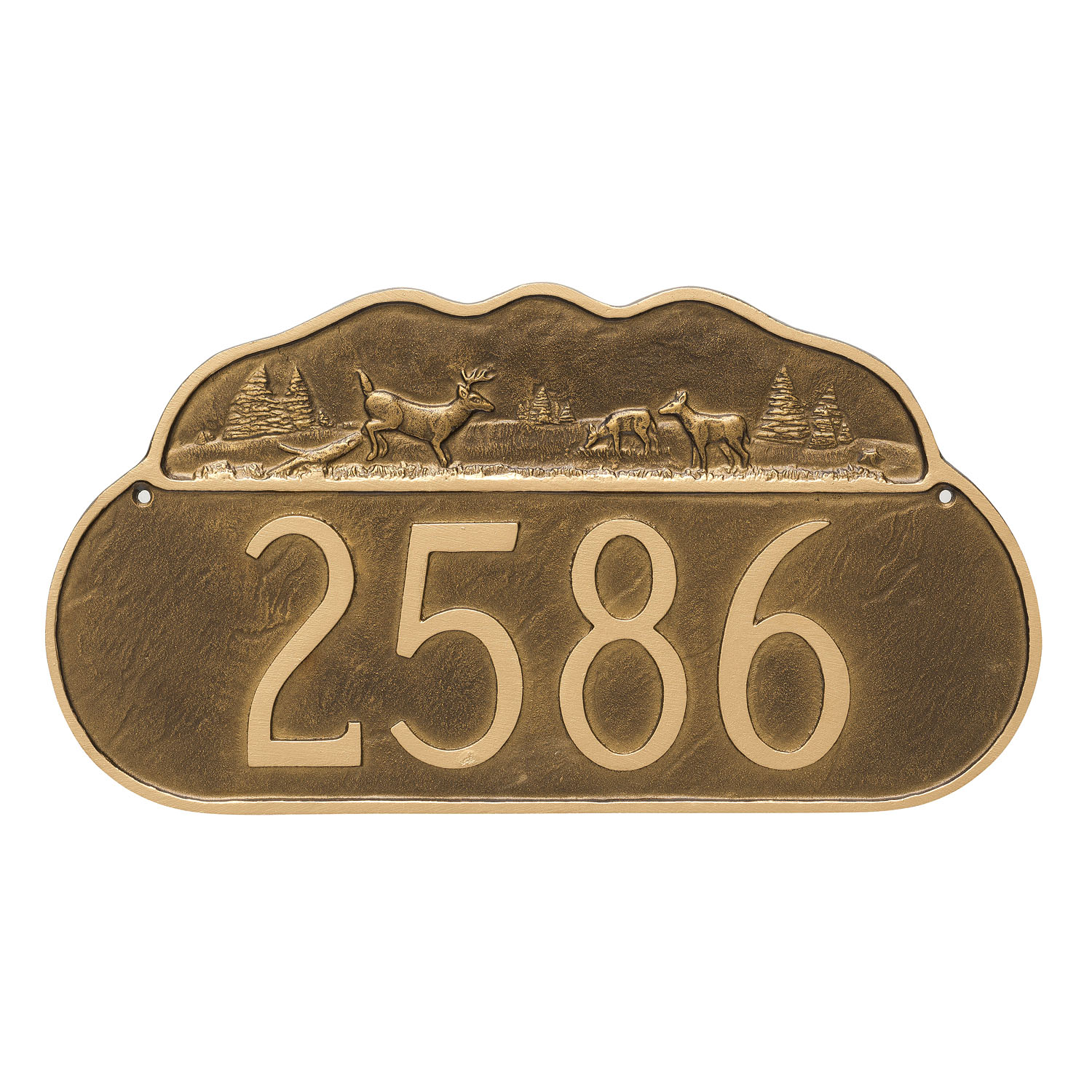 Grazing Deer Address Plaque