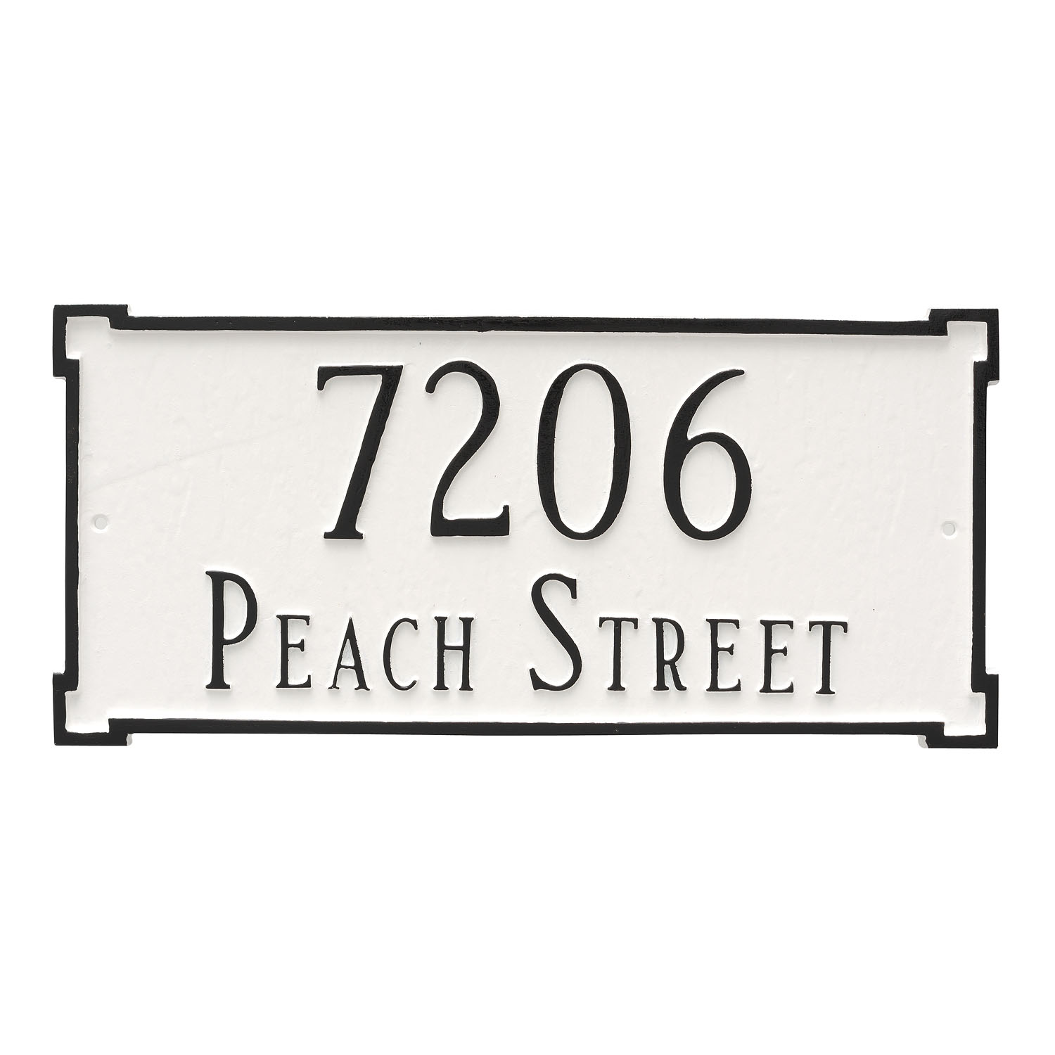 New Yorker Address Plaque - Standard