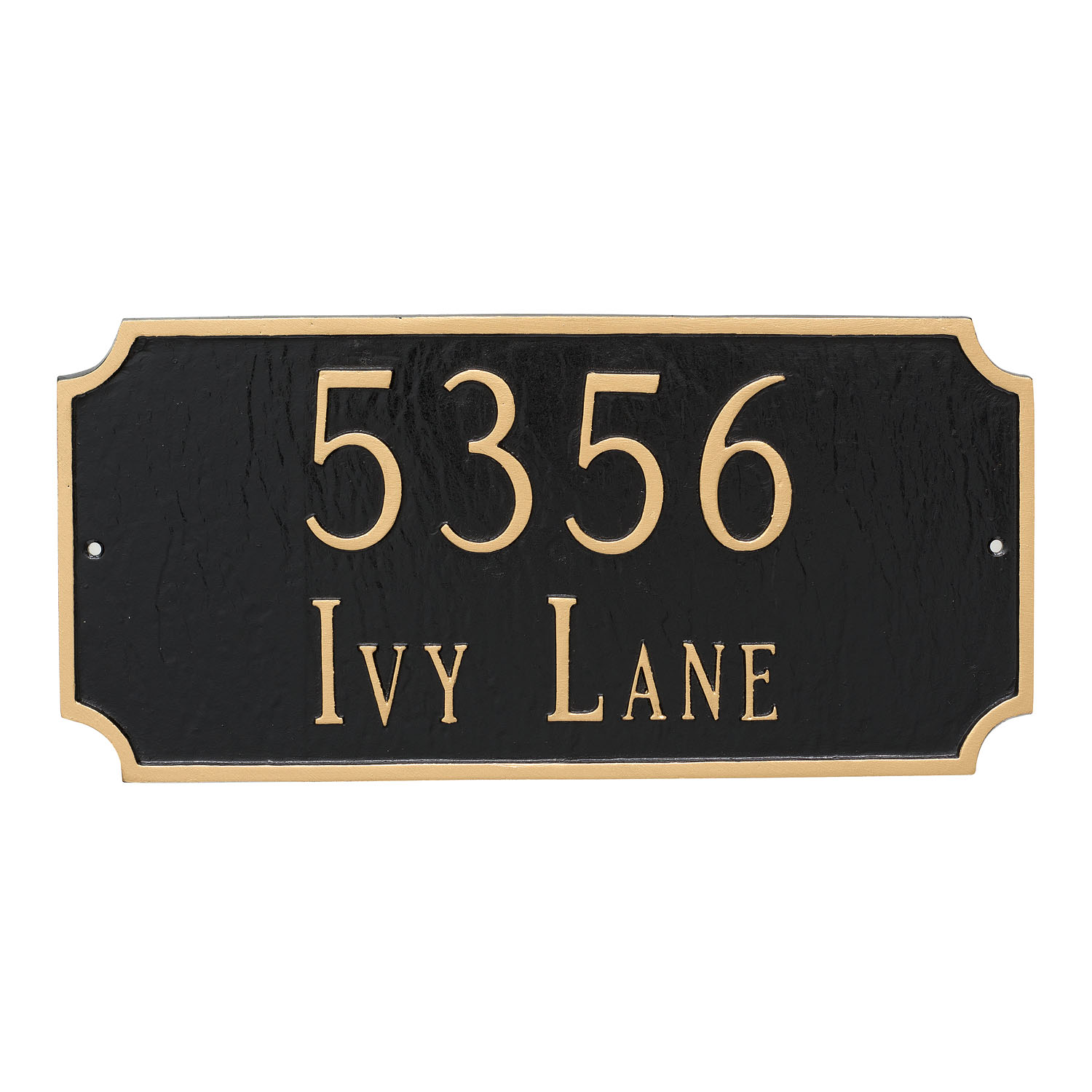 Princeton Address Plaque - Standard - 2 Line