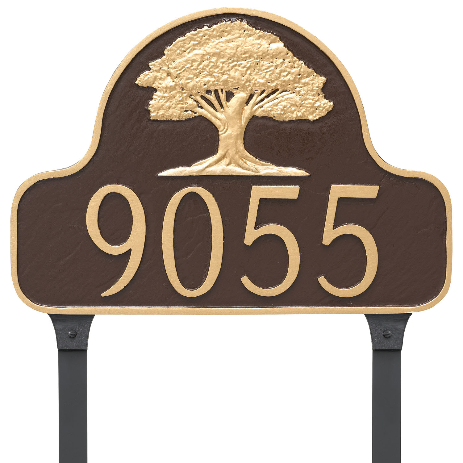 Mighty Oak Tree Address Plaque