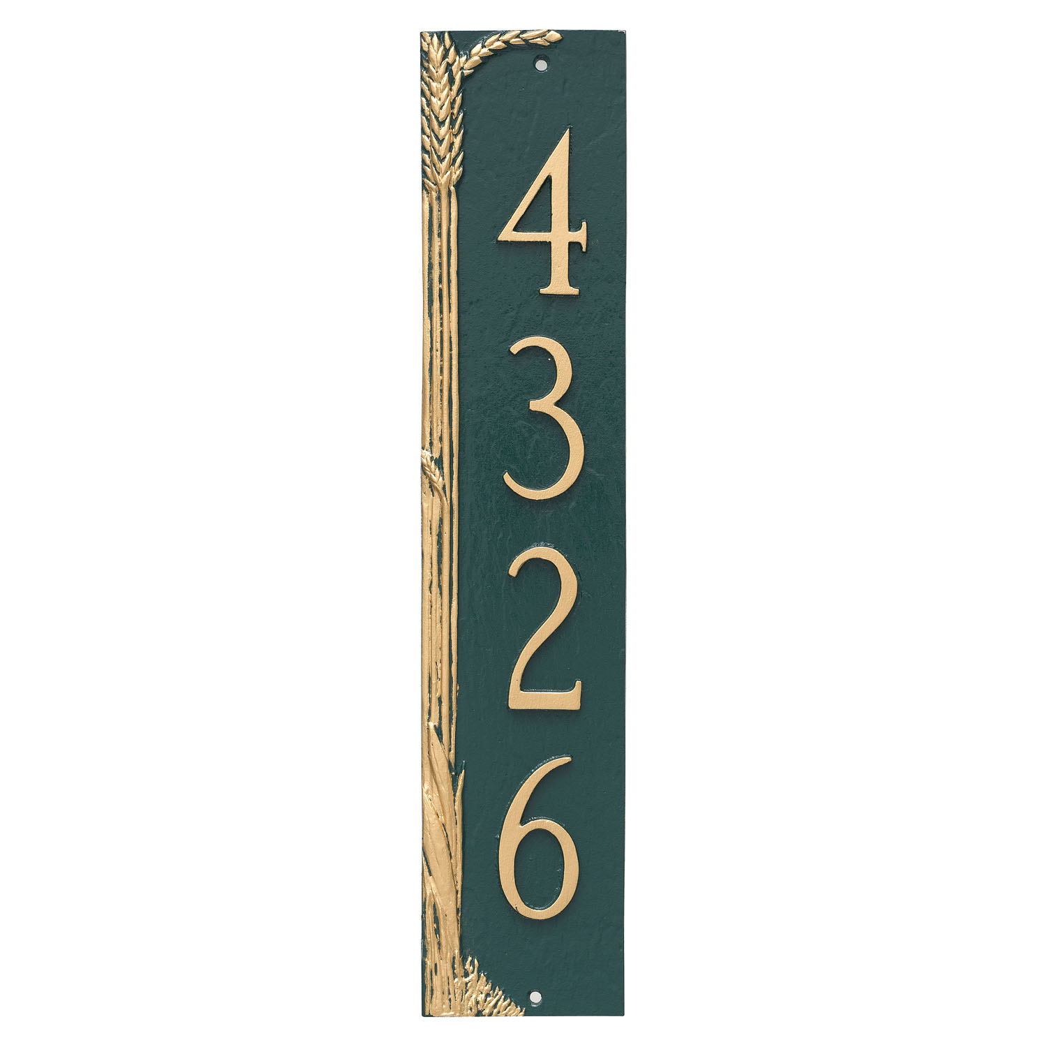 Wheat Vertical Address Plaque