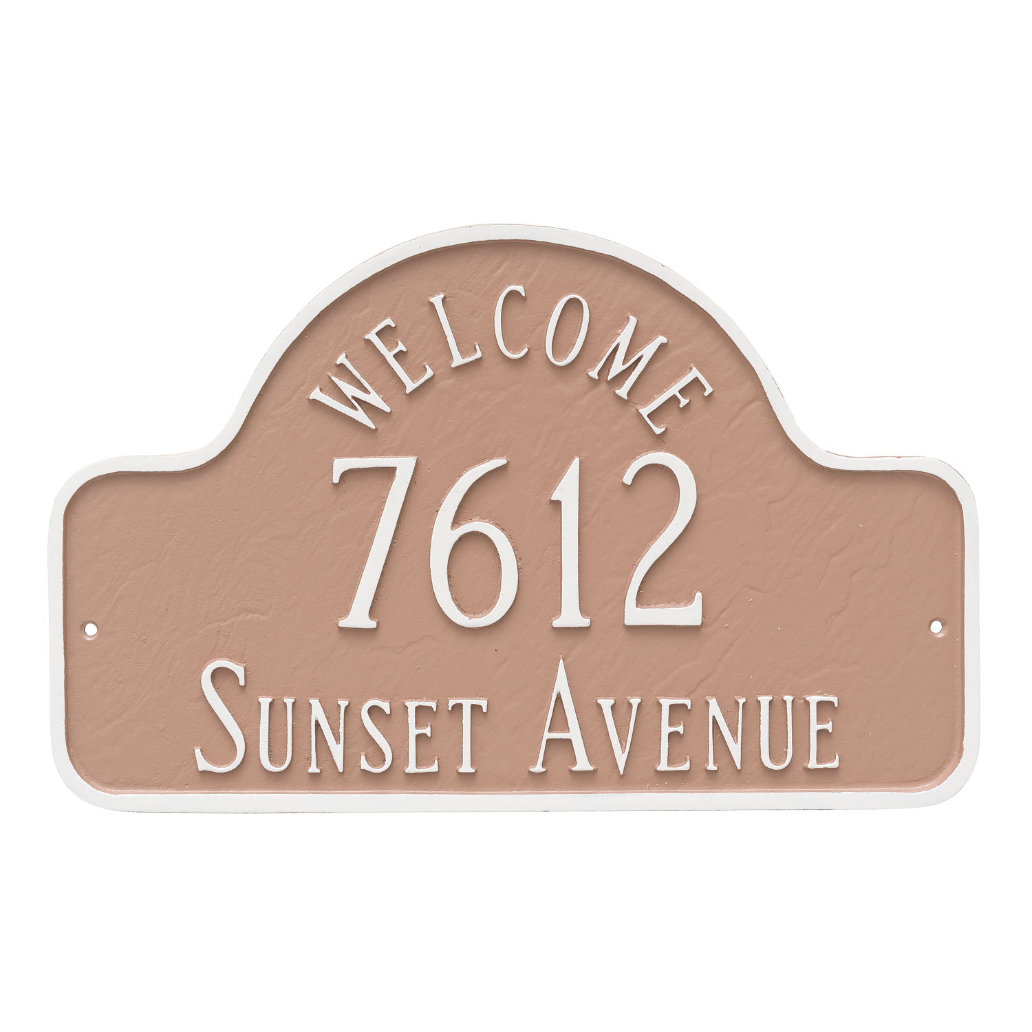 Welcome Arch Address Plaque - Large