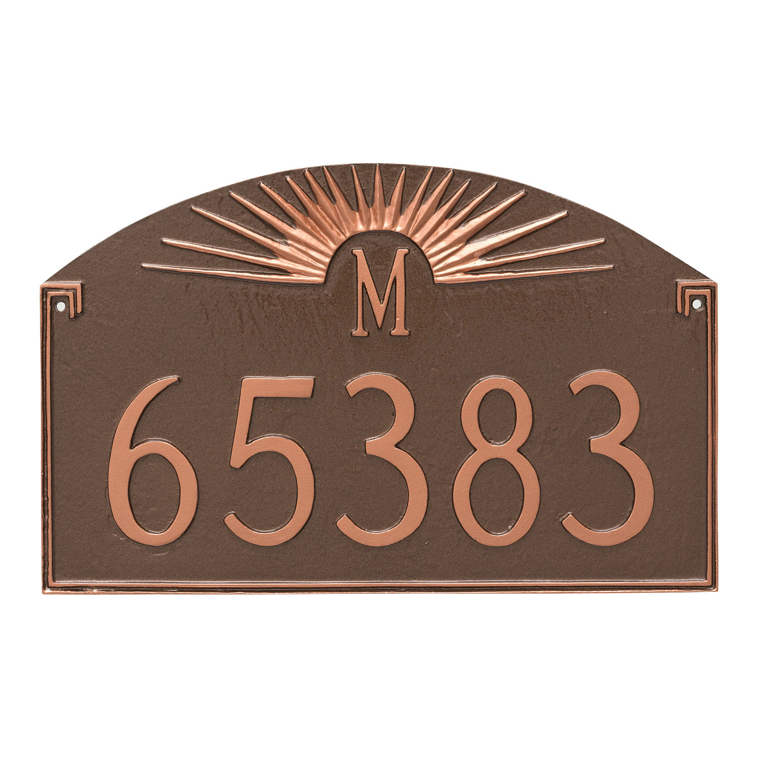 Sunfire Monogram Address Plaque