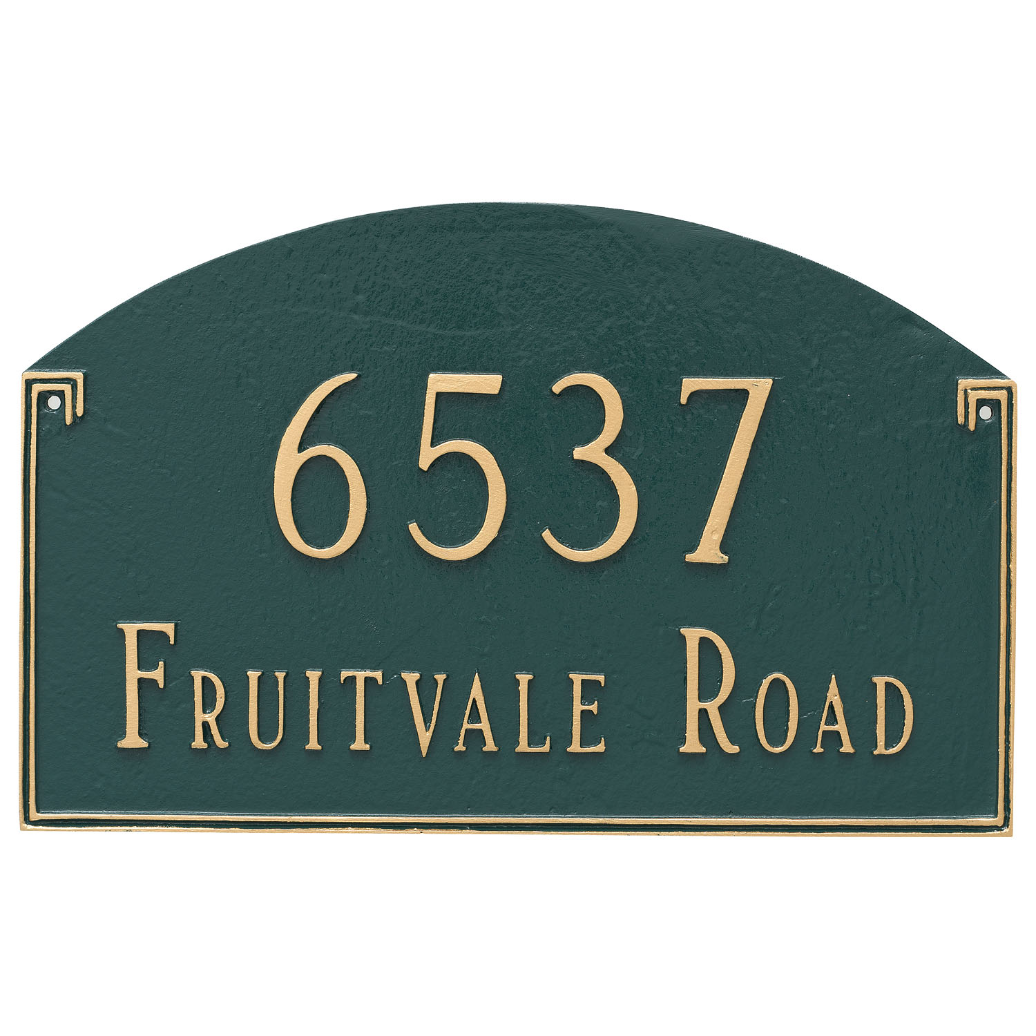 Georgetown Arch Address Plaque - Estate - 2 Line